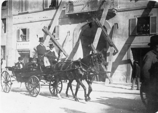 Rieti dopo il terremoto del giugno 1898