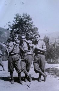 Soldati in Albania, con Nello Angelini di Antrodoco al centro, 2 settembre 1940