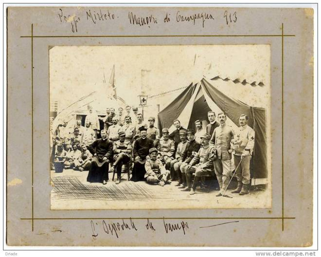 Campo Mirteto, Ospedale da campo, Rieti, 1913