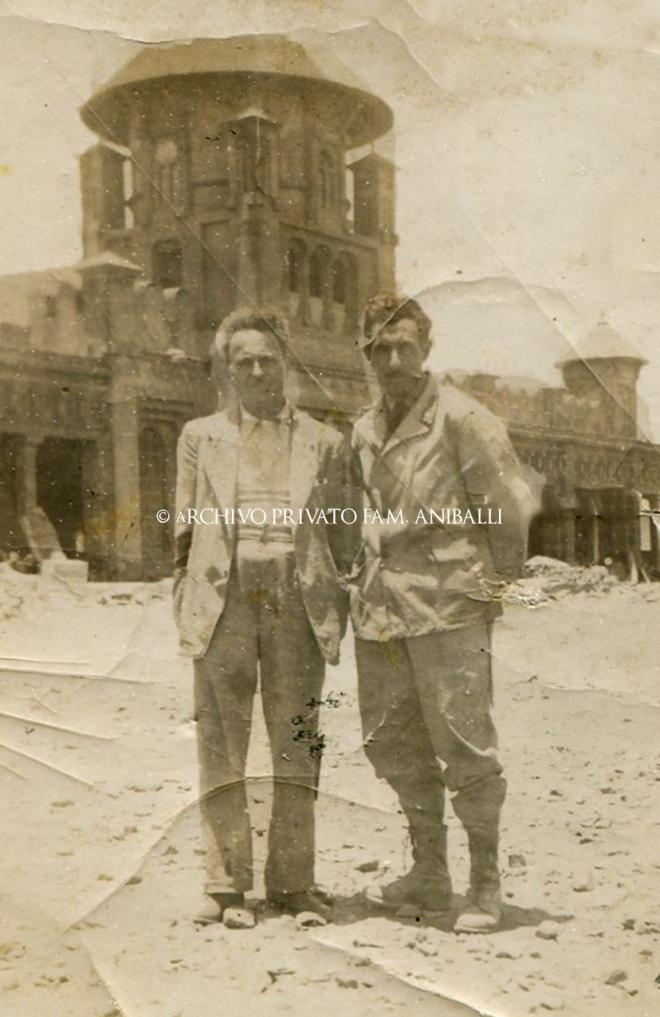 FOTO FRANCESCO ANIBALLI - ASMARA 1936 CON OTTAVIO MONTALESI