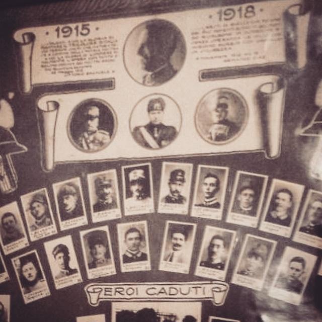 I caduti della Prima Guerra Mondiale a Scandriglia, dettaglio. Fotomontaggio, elaborato in digitale su Instagram