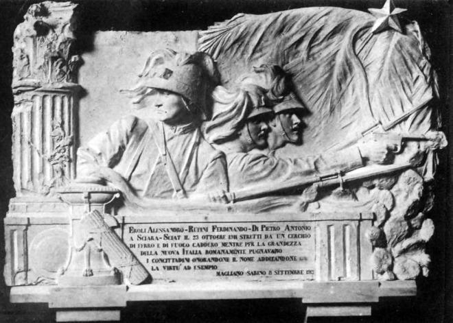 Lapide ai caduti della guerra Italo-Turca a Magliano Sabina, 1913