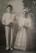 Prima comunione di Alfiere e Letizia D'Ilario, Antrodoco 5 maggio 1940