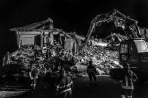Amatrice (Rieti), August 24th, 2016 – The quake devastated the city's downtown. ---- A magnitude 6.2 earthquake has struck central Italy, leaving at least 63 people dead and 150 missing. >< Amatrice (Rieti), 24 agosto 2016 – ll terremoto ha devastato il centro della città. ---- Un terremoto di magnitude 6.2 ha colpito l'Italia centrale causando la morte di almeno 63 persone e circa 150 dispersi.
