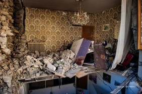Amatrice (Rieti, Lazio - Italy), 29th September 2016, private house destroyed by the earthquake.