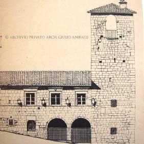 Palazzo del Podestà (Disegno Ditta Francesco Aniballi)