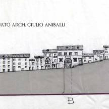 Sezione destra Via principale (Disegno Arch. Giulio Aniballi)
