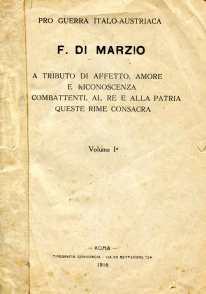 1. Pro guerra italo-austriaca, 1916, Frontespizio [Archivio privato Francesco Di Marzio]