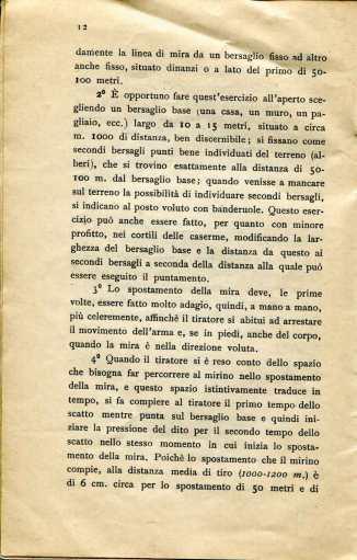 10. Norme per l'esecuzione del tiro di fucileria contro aeroplani e dirigibili, 1915 [Archivio privato Egisto Fiori]
