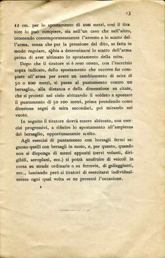 11. Norme per l'esecuzione del tiro di fucileria contro aeroplani e dirigibili, 1915 [Archivio privato Egisto Fiori]