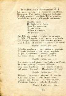 11. Pro guerra italo-austriaca, 1916, Inni bellici e patriottici [Archivio privato Francesco Di Marzio]