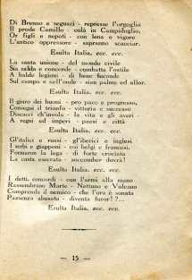12. Pro guerra italo-austriaca, 1916, Inni bellici e patriottici [Archivio privato Francesco Di Marzio]