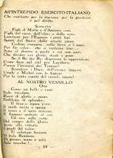 15. Pro guerra italo-austriaca, 1916, Sonetto all'esercito e al vessillo italiano [Archivio privato Francesco Di Marzio]