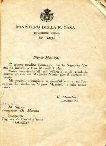 2. Pro guerra italo-austriaca, 1916, Lettera Lambertini [Archivio privato Francesco Di Marzio]