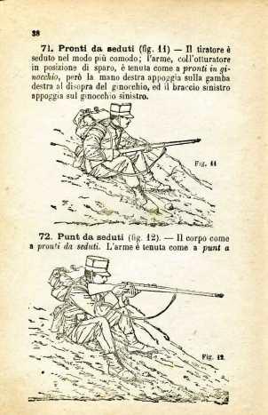 23. Istruzione sulle armi e sul tiro per la fanteria, 1909 [Archivio privato Egisto Fiori]