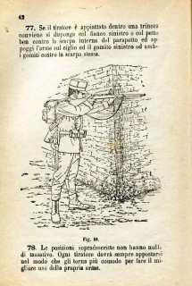 27. Istruzione sulle armi e sul tiro per la fanteria, 1909 [Archivio privato Egisto Fiori]