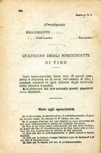 28. Istruzione sulle armi e sul tiro per la fanteria, 1909 [Archivio privato Egisto Fiori]
