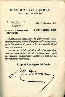 32. Impiego delle mitragliatrici, 1916 [Archivio privato Egisto Fiori]