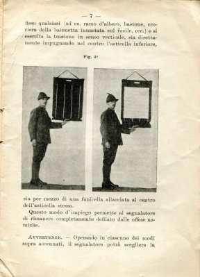 38. Istruzione sulle segnalazioni con bandiere a lampo di colore, 1916 [Archivio privato Egisto Fiori]