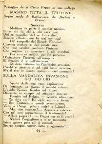 4. Pro guerra italo-austriaca, 1916, Sulla vandalica invasione del belgio [Archivio privato Francesco Di Marzio]