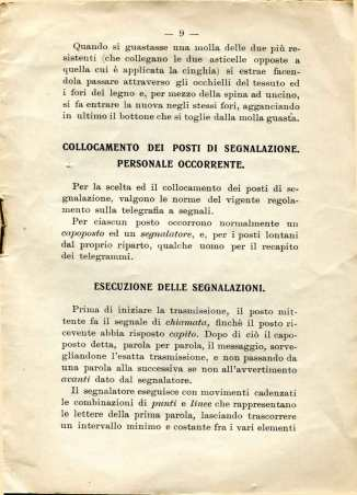 40. Istruzione sulle segnalazioni con bandiere a lampo di colore, 1916 [Archivio privato Egisto Fiori]