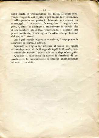 42. Istruzione sulle segnalazioni con bandiere a lampo di colore, 1916 [Archivio privato Egisto Fiori]