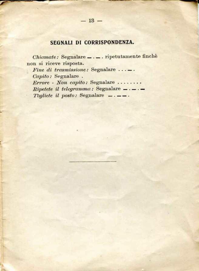 44. Istruzione sulle segnalazioni con bandiere a lampo di colore, 1916 [Archivio privato Egisto Fiori]