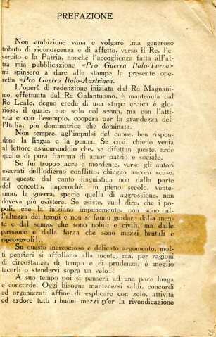 5. Pro guerra italo-austriaca, 1916, Prefazione [Archivio privato Francesco Di Marzio]