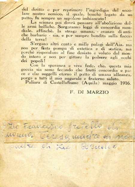 6. Pro guerra italo-austriaca, 1916, Prefazione [Archivio privato Francesco Di Marzio]