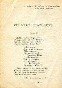 7. Pro guerra italo-austriaca, 1916, Inni bellici e patriottici [Archivio privato Francesco Di Marzio]