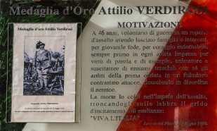"""4. Attilio Verdirosi, Targa Caserma """"A. Verdirosi, Rieti"""