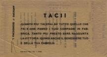 Archivio di Stato di Rieti, Archivio della Snia di Rieti, Cartellino per l'anticipo, luglio 1943