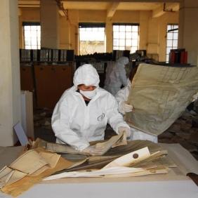 Archivio di Stato di Rieti, Recupero Archivio della Snia di Rieti, aprile 2015