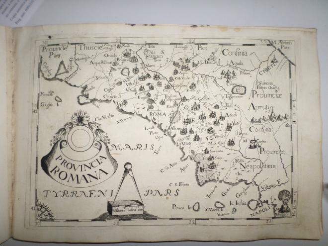 Atlante delle province cappuccine - Mappa della provincia romana con Aspra, Archivio Storico Comunale di Casperia