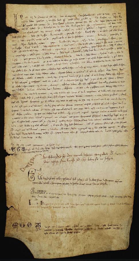 Carta di popolamento del Castrum Asprae del 1109, Archivio Storico Comunale di Casperia