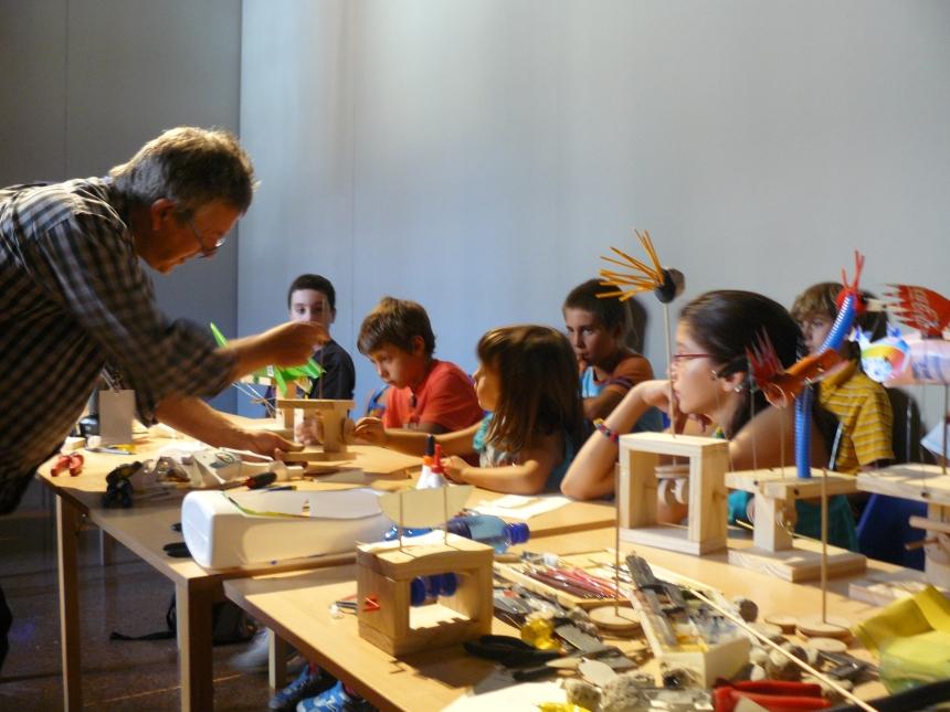 Laboratorio di costruzione automi curato da Keith Newstead, Festival della Letteratura, Mantova, 2008