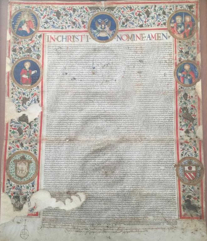 Pergamena della confraternita del Santissimo Sacramento di Toffia, Archivio Diocesano di Sabina-Poggio Mirteto, Poggio Mirteto, Miscellanea, Toffia