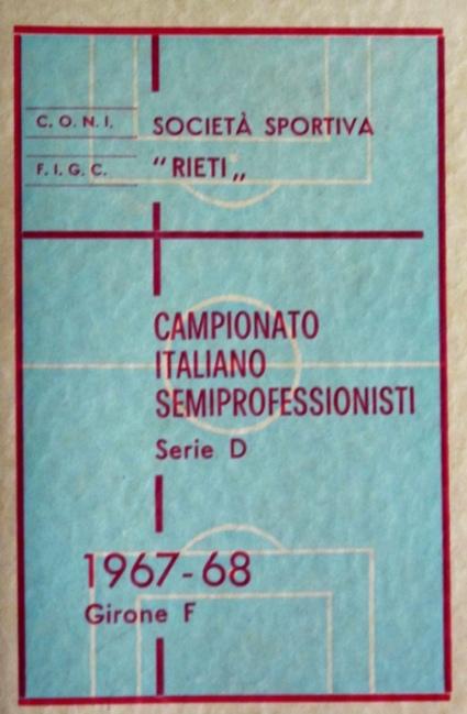 Archivio privato Egisto Fiori, Calendario 1967-68