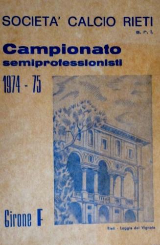 Archivio privato Egisto Fiori, Calendario 1974-75