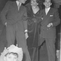 Archivio privato Brenno Padovini, Rieti, Carnevale, Anni '60, Teatro Flavio Vespasiano. Da sinistra Brenno Padovini, Clara Iaione, Umberto.