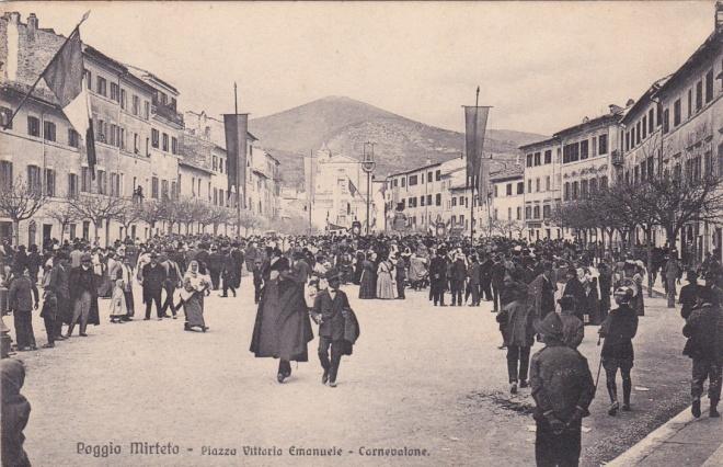Archivio privato Roberto Lorenzetti, Poggio Mirteto, Carnevale Liberato, 1913