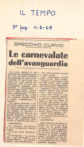 Articolo, Il tempo, 1 febbraio 1969