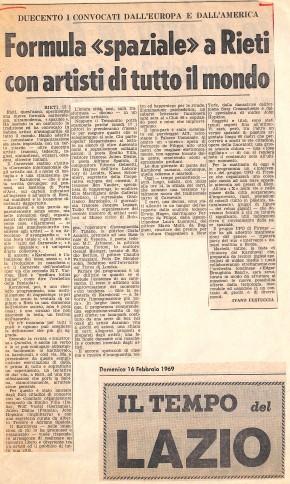 Articolo, Il Tempo, 16 febbraio 1969