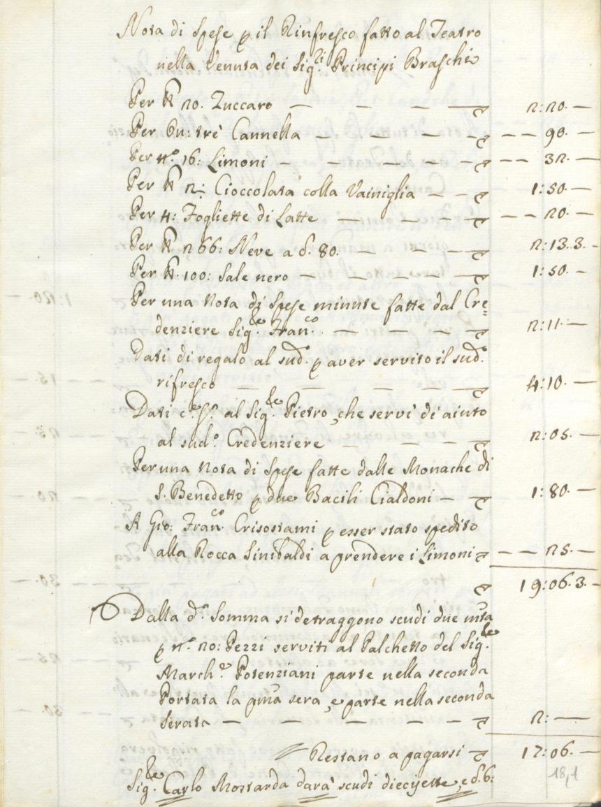 Archivio di Stato di Rieti, Archivio Storico Comunale Rieti, Congregazioni teatrali, b. 194, f. 2, c. 18,1.